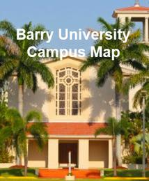 Florida Colleges Map.Barry University Open House Visit Campus Map Virtual Tours